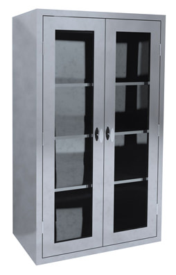 Glass Door Supply Cabinet
