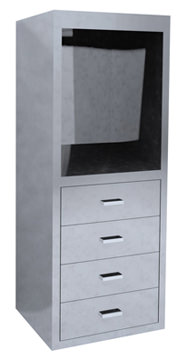 Stainless Desk Cabinet