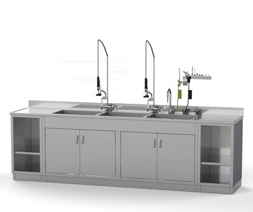 Cabinet Base Decontamination Sink