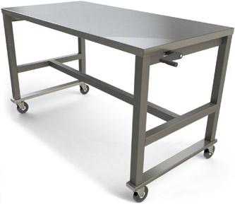 Height Adjustable Work Tables
